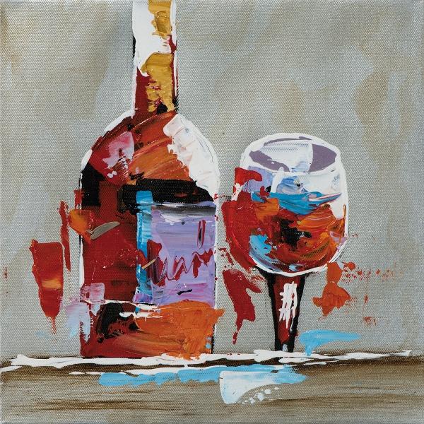 schilderij wijn 25x25