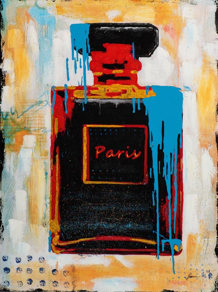 Schilderij parfumfles 90x120
