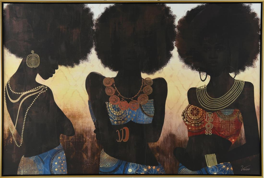 Schilderij vrouwen 82x122