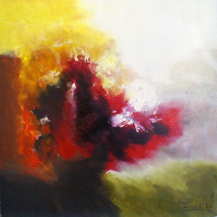 schilderij modern 80x80