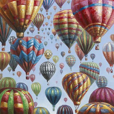 schilderij luchtballonnen 115x115