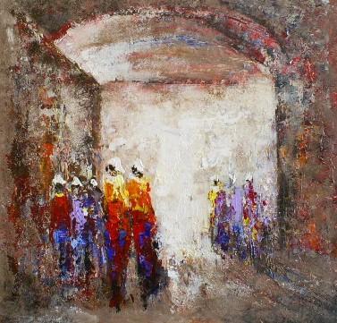 Schilderij figuratief 80x80