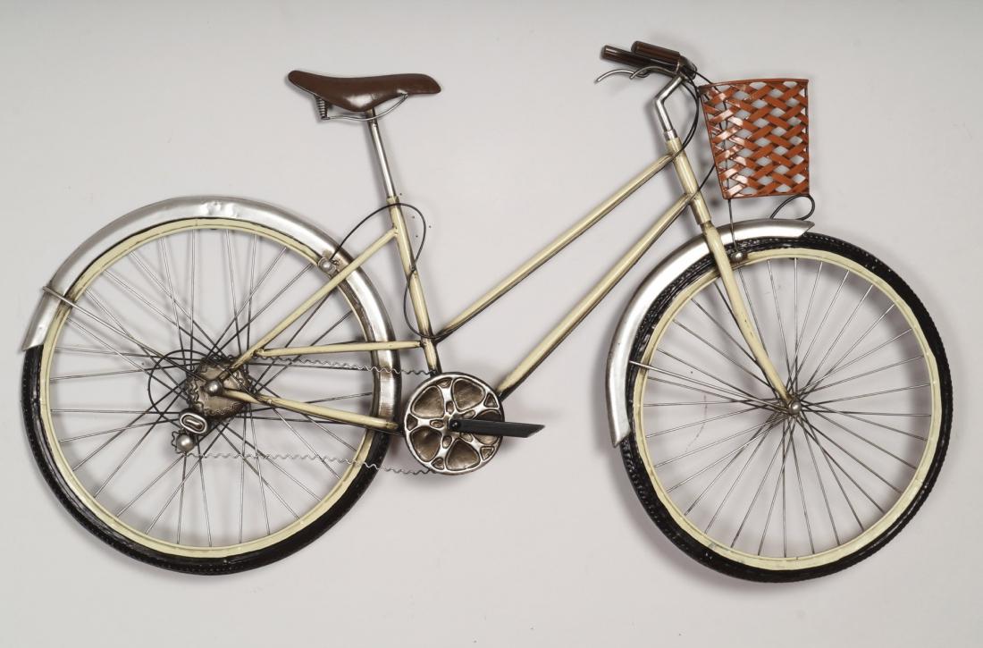 metalen wanddeco fiets 96x56