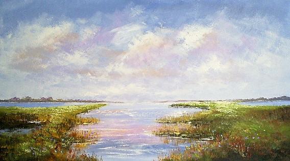 Schilderij landschap 80x140