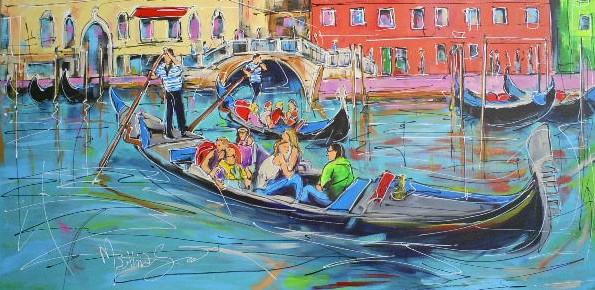 Schilderij Venetie 70x140