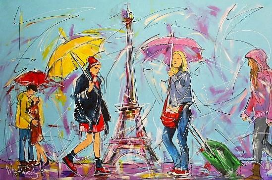 Schilderij Parijs 80x120