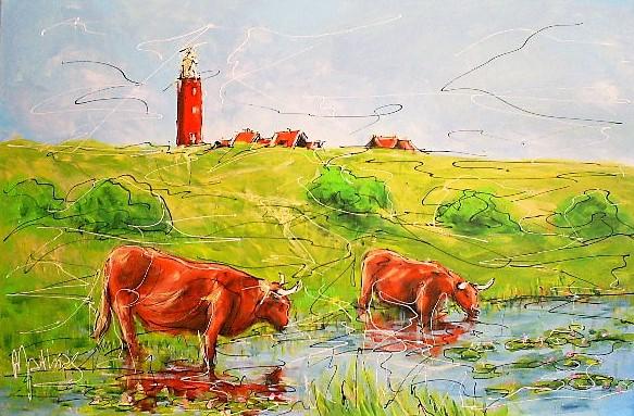 Schilderij landschap 80x120