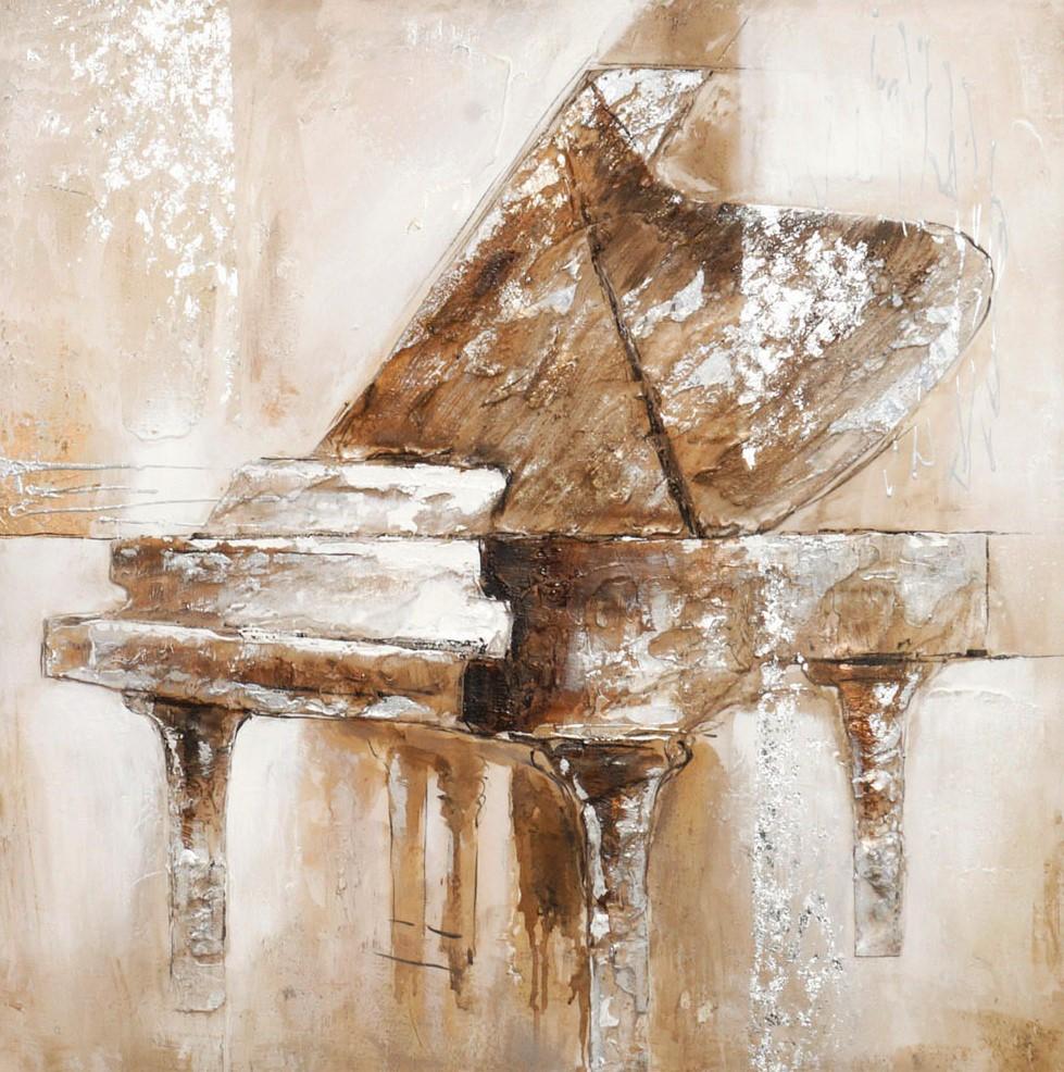 schilderij piano 80x80