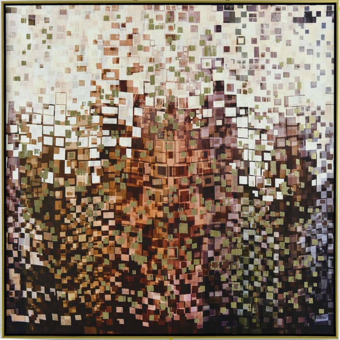 Schilderij abstract 102x102