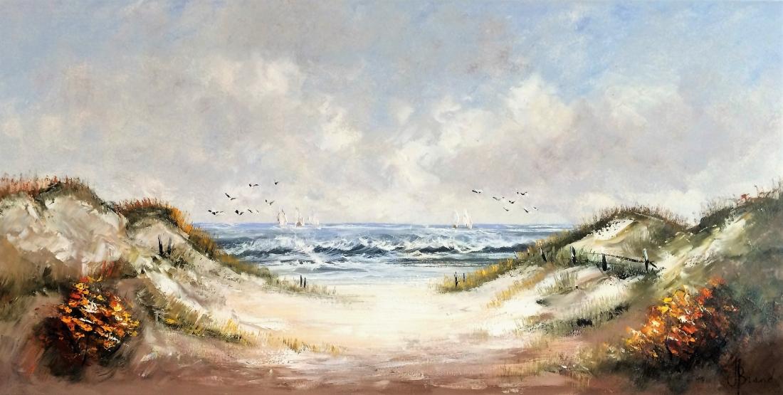Schilderij duinlandschap 70x140