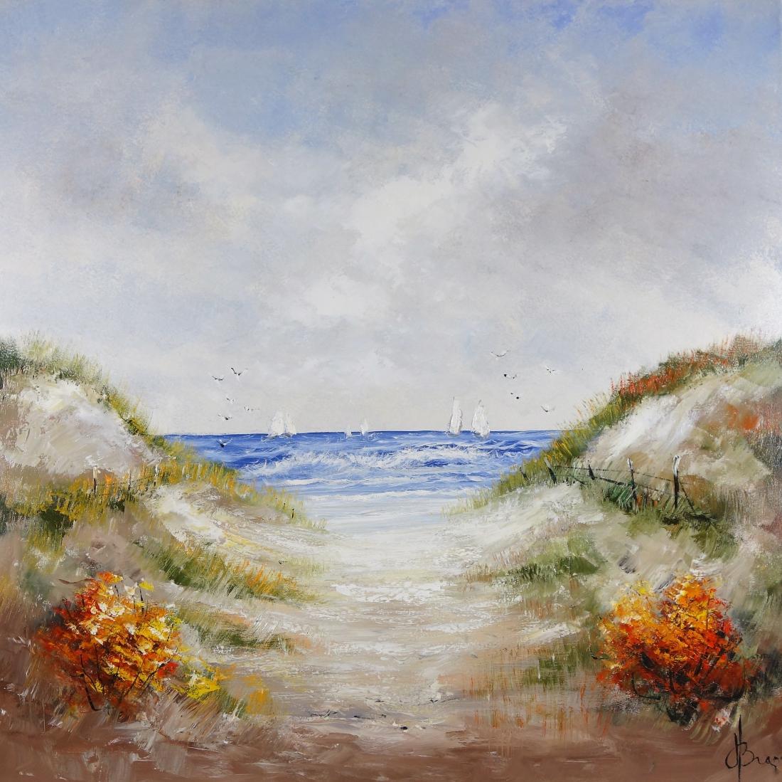 Schilderij duin en strand 100x100