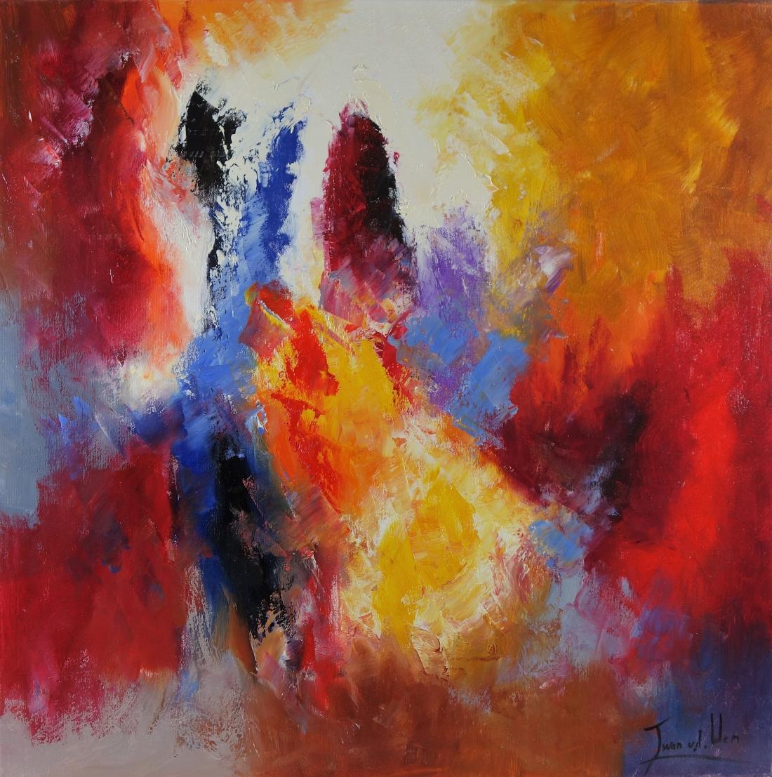 Schilderij abstract 80x80