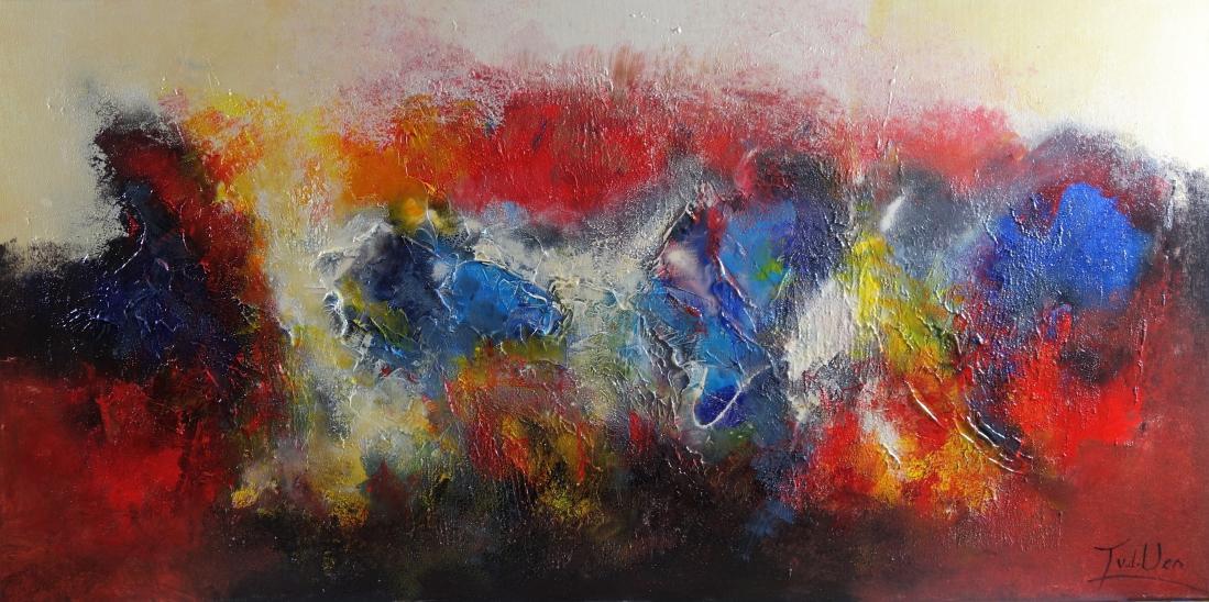 Schilderij abstract 60x120