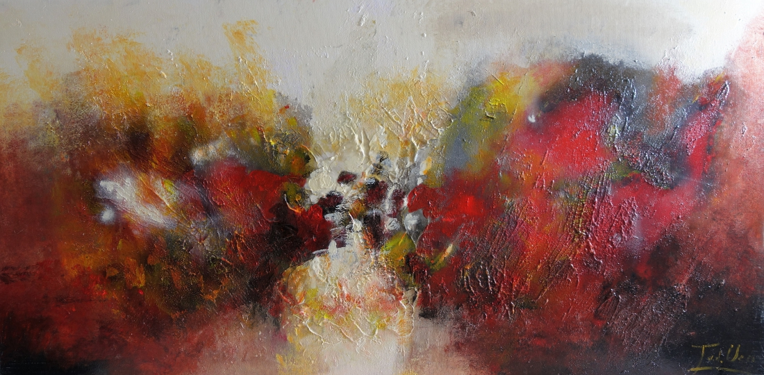 Schilderij abstract 60x120