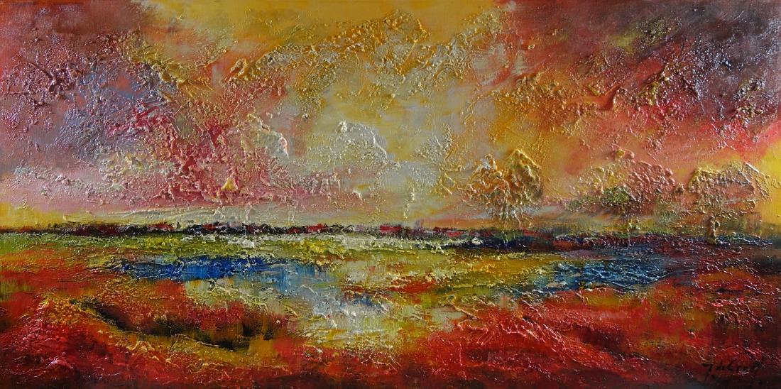 Schilderij landschap 60x120