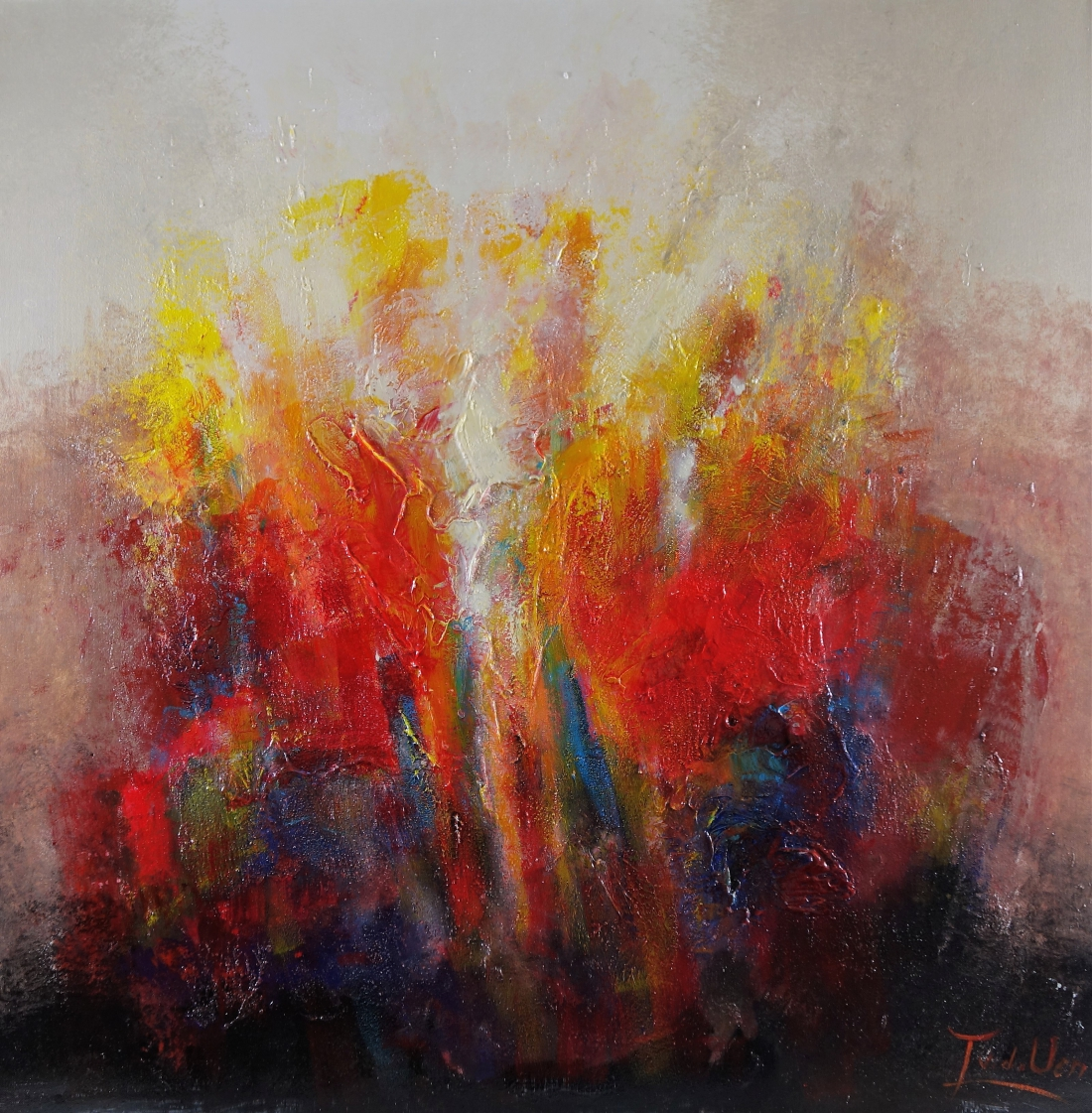 schilderij modern 90x90