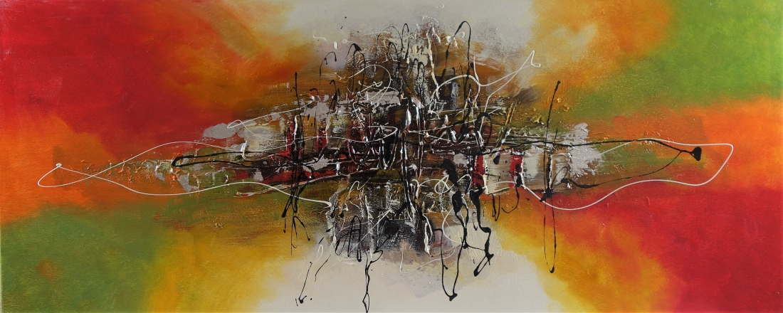 schilderij abstract 50x120