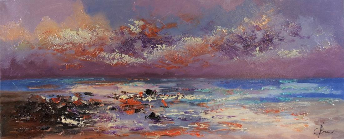 Schilderij landschap modern 50x120