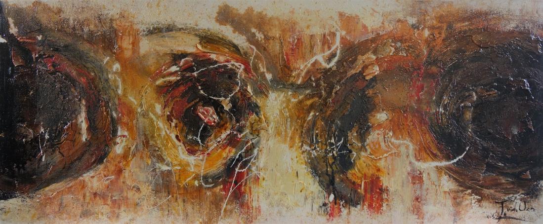 schilderij abstract 50x120
