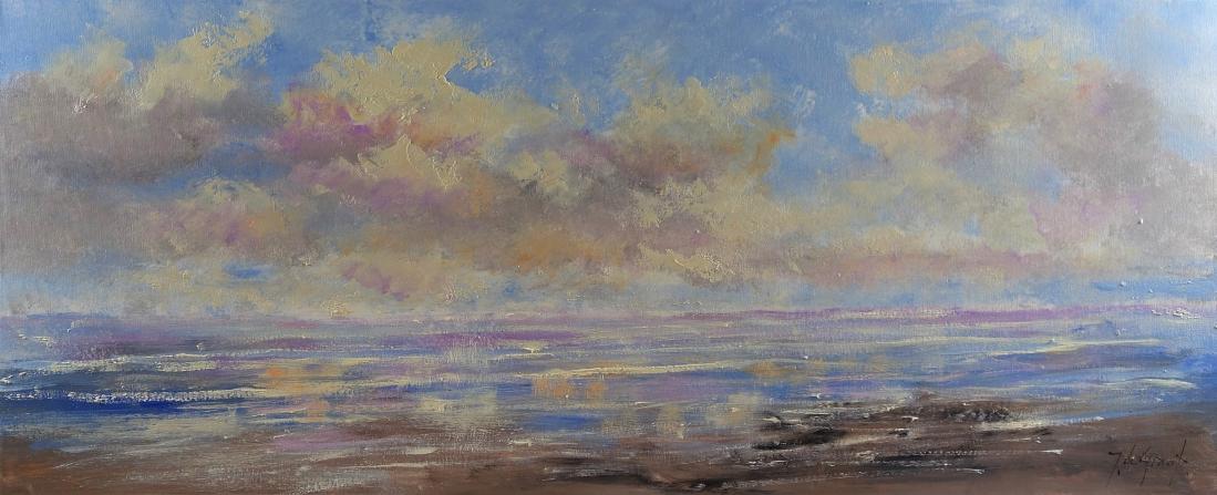 Schilderij landschap 50x120