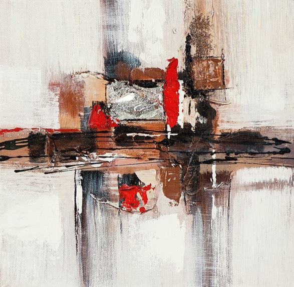 Schilderij abstract 25x25