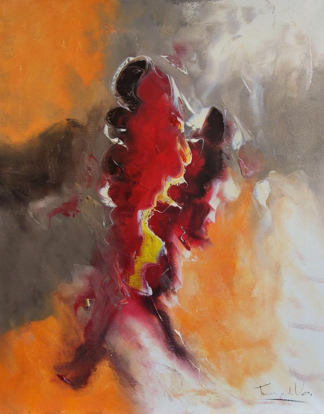 Schilderij abstract 80x100