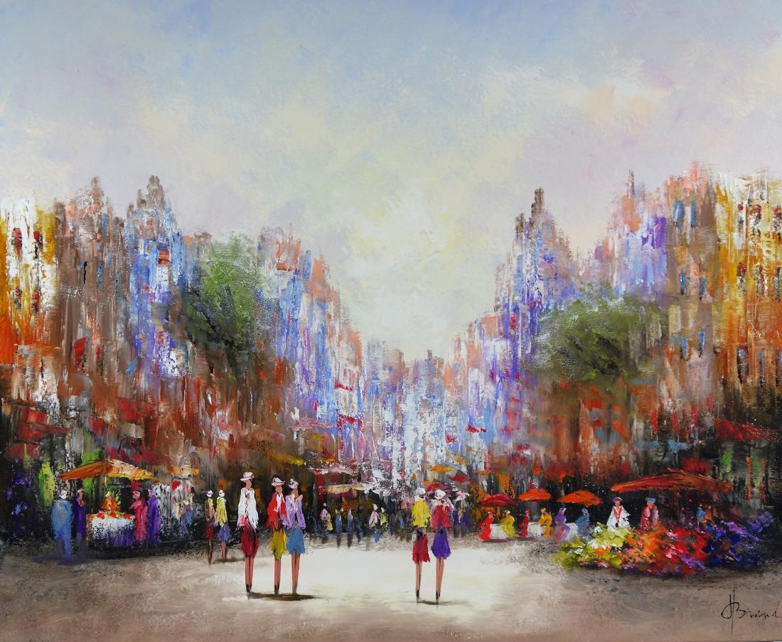 Schilderij Stadsgezicht 100x120