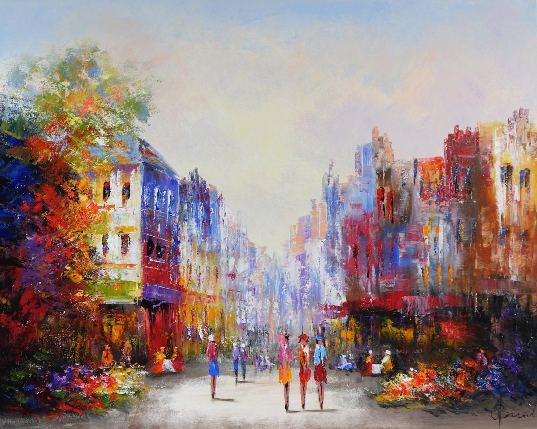 Schilderij Stadsgezicht 80x100