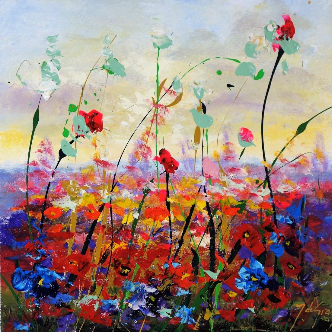 Schilderij bloemen 50x50