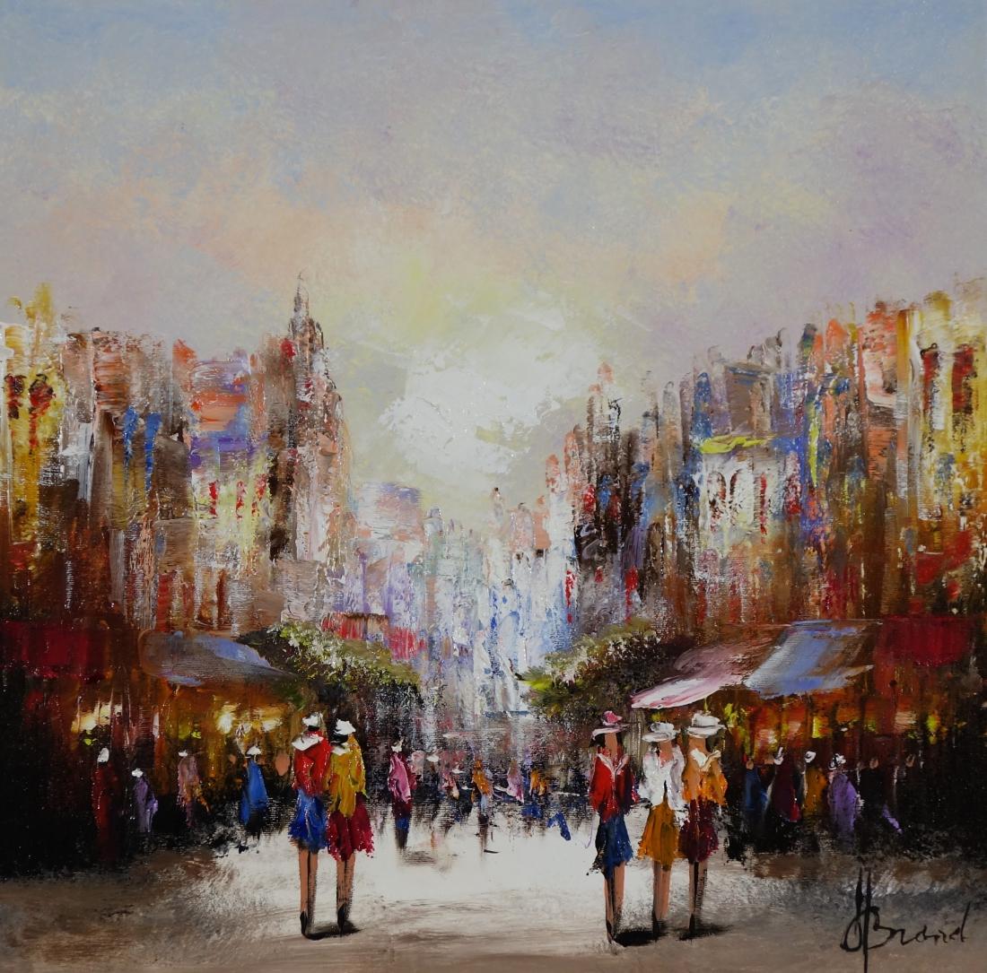 Schilderij stadsgezicht 50x50