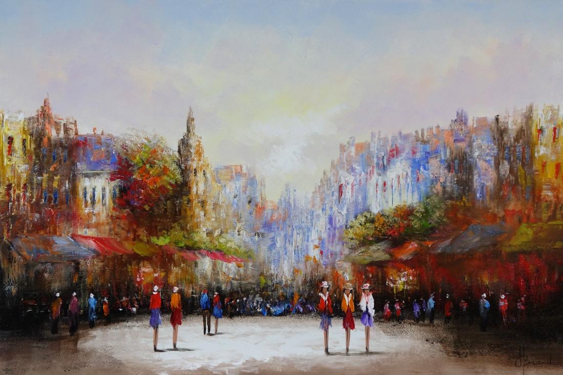 Schilderij stadsgezicht 100x150