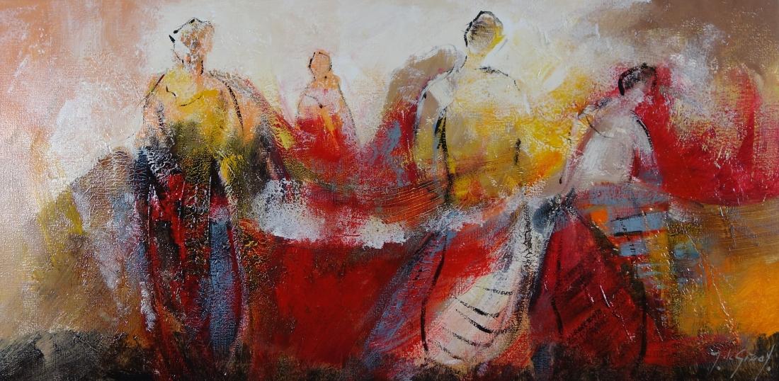 Schilderij figuratief 50x100