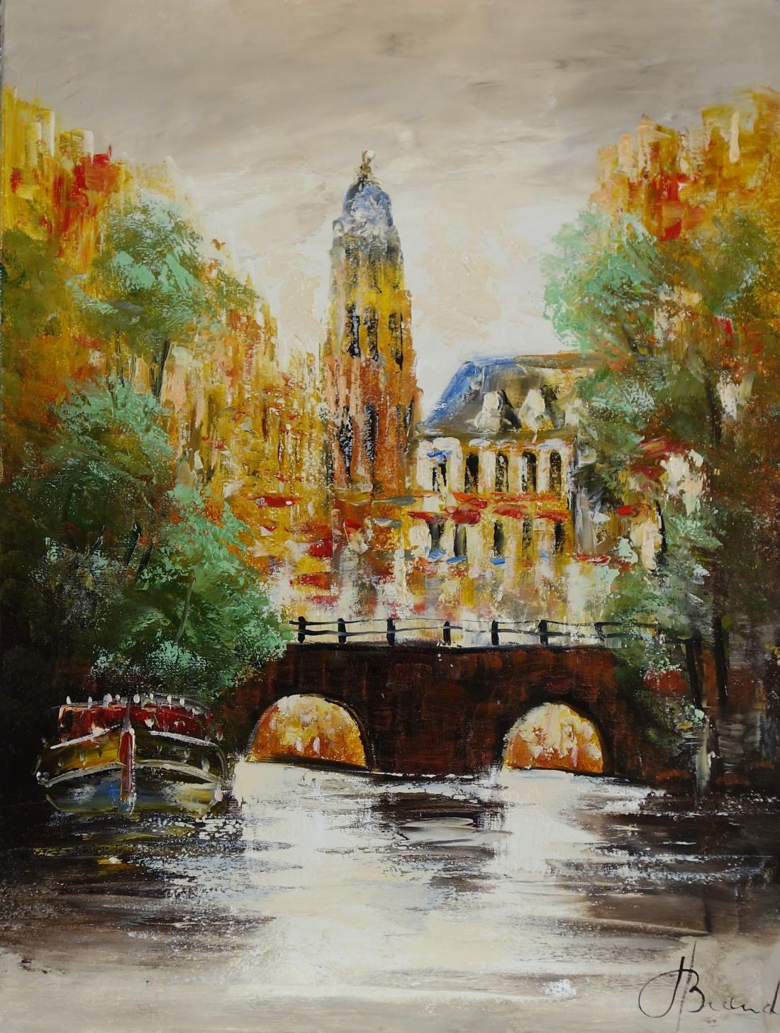 Schilderij stadsgezicht 60x80