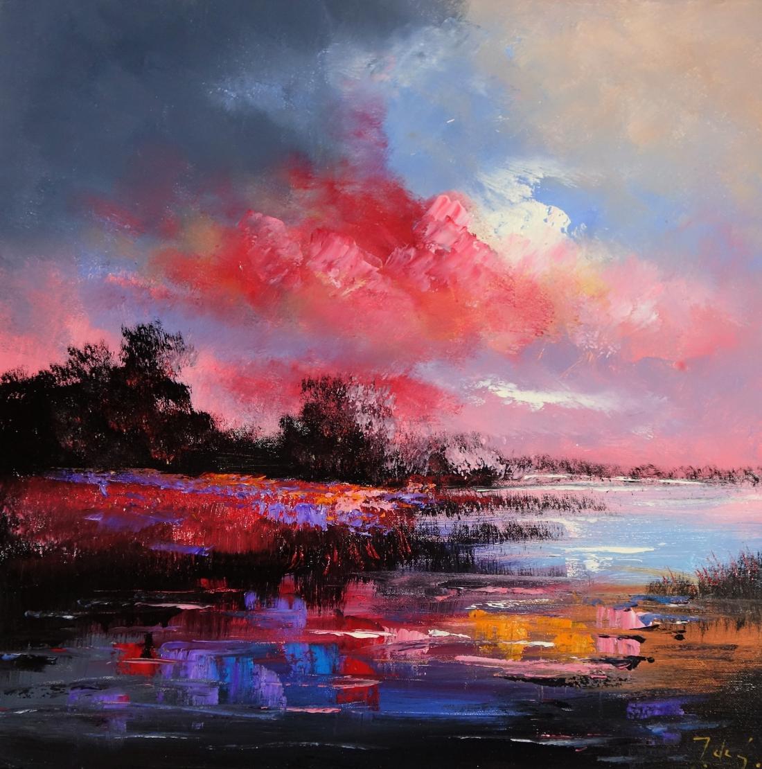 Schilderij landschap 50x50