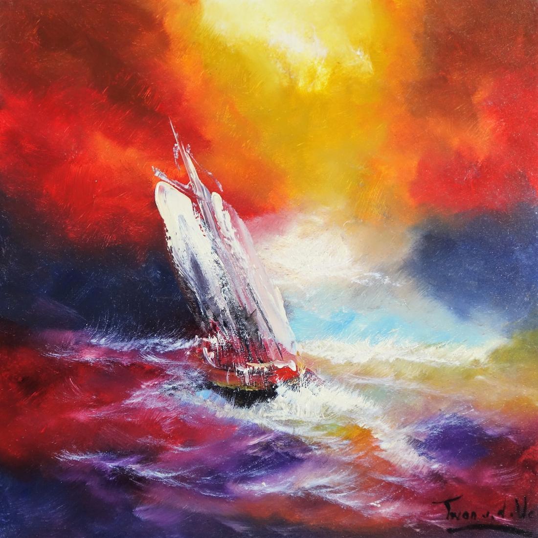 schilderij Schip 50x50