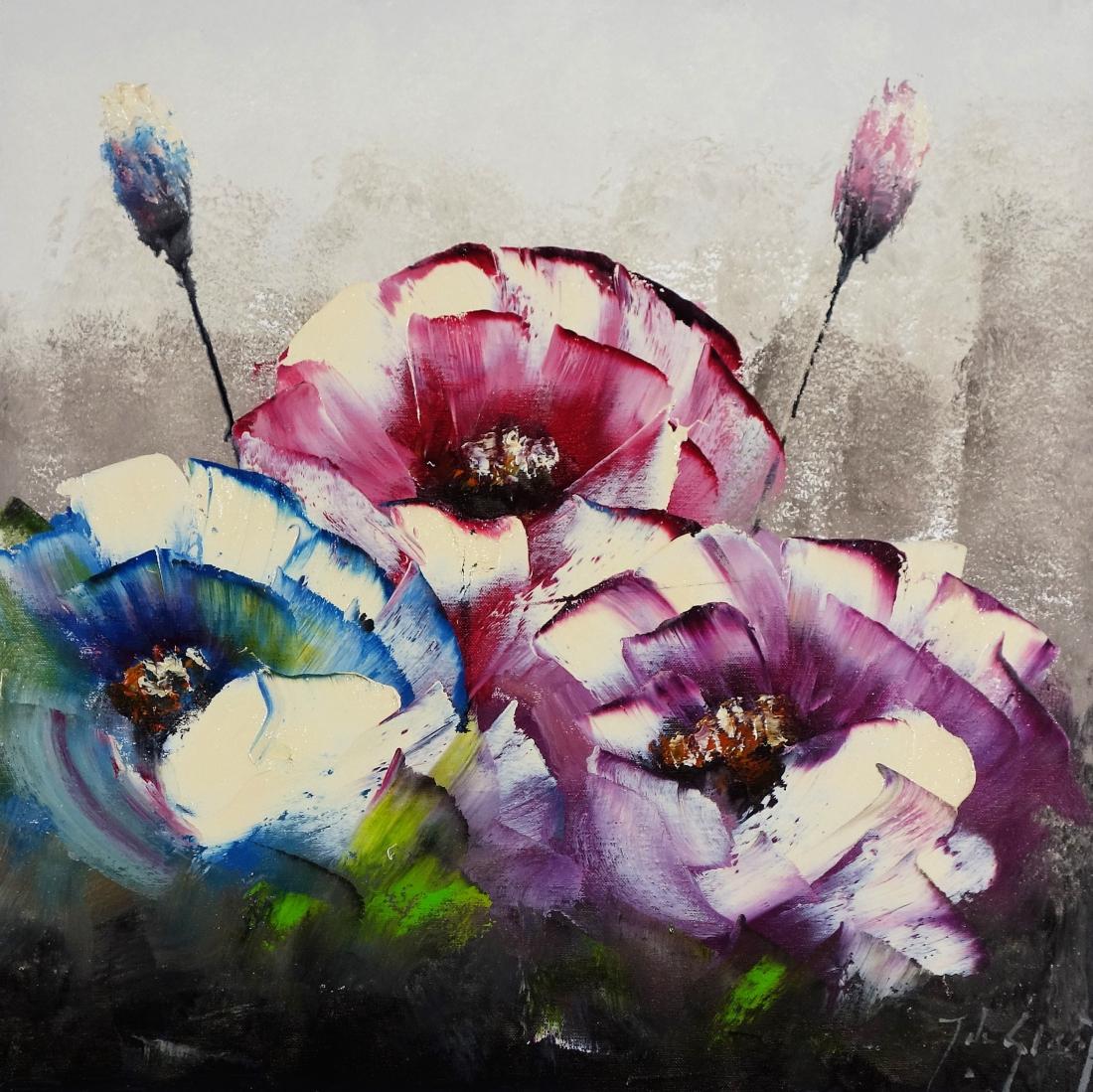 Schilderij bloemen 60x60