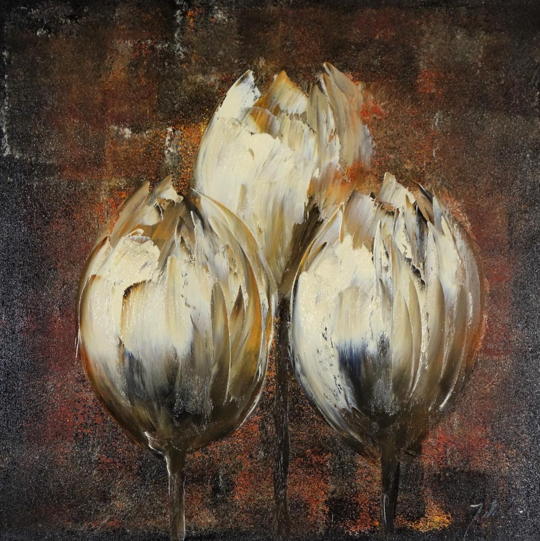Schilderij tulpen 60x60
