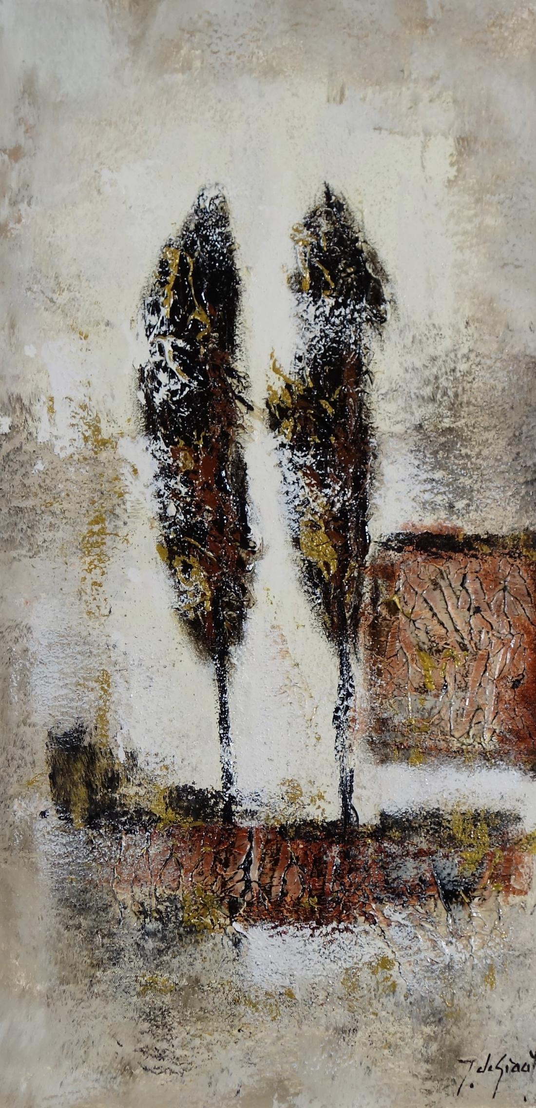 Schilderij bomen 40x80