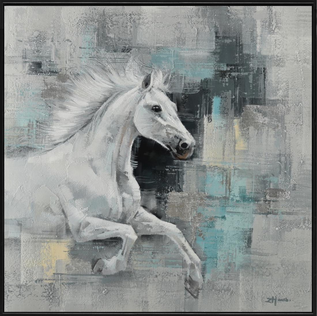 Schilderij paard 102x102