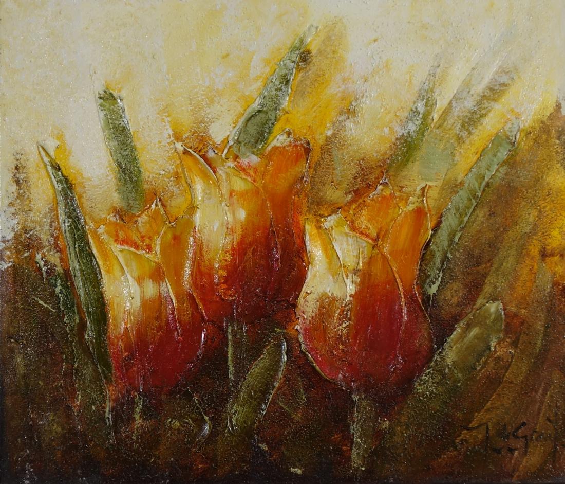 Schilderij bloemen 60x70