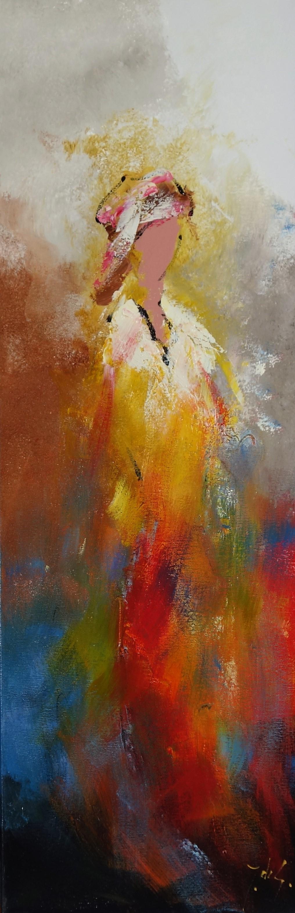 Schilderij figuratief 30x90