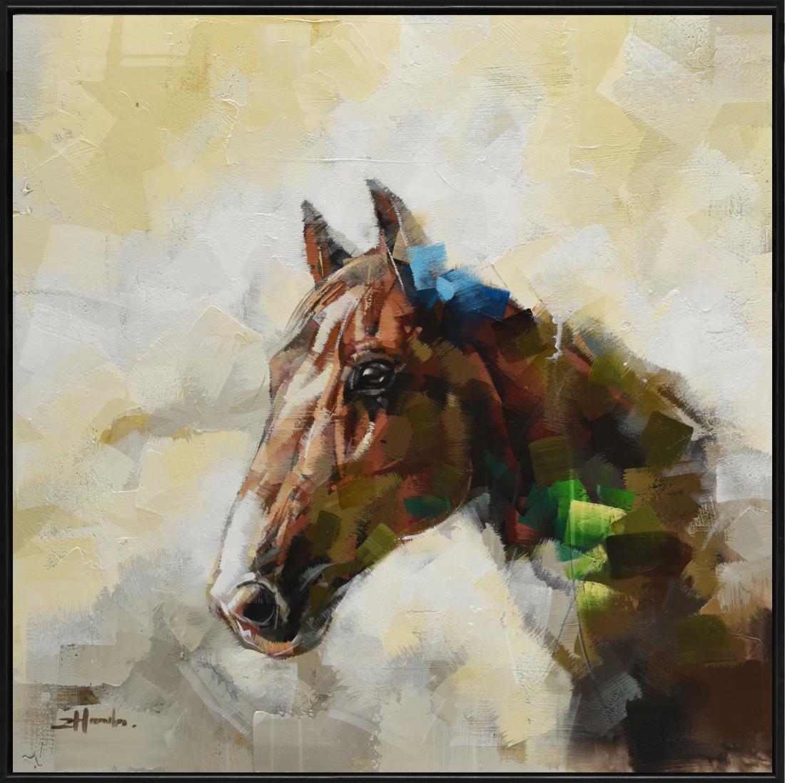 Schilderij paard 92x92