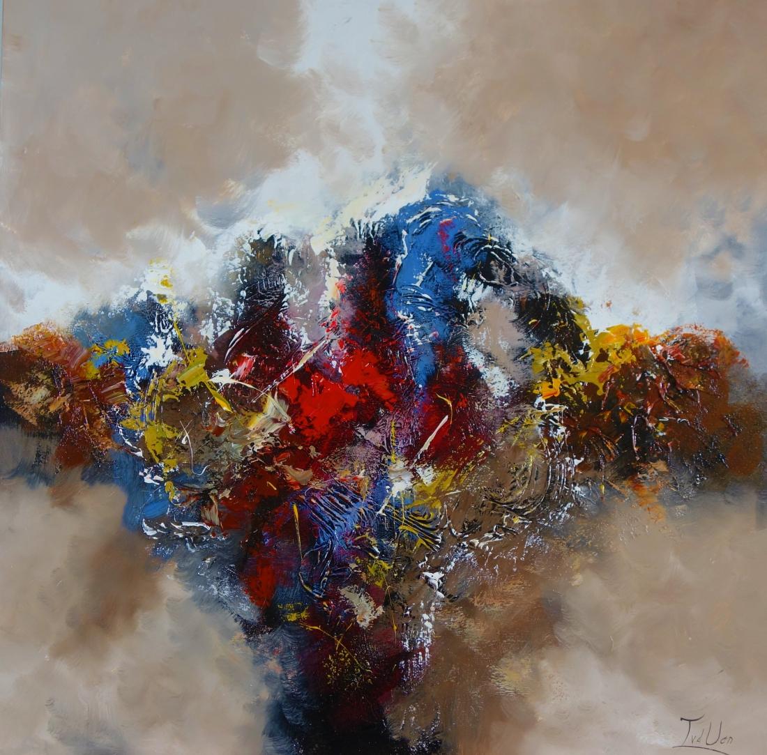 Schilderij abstract 100x100