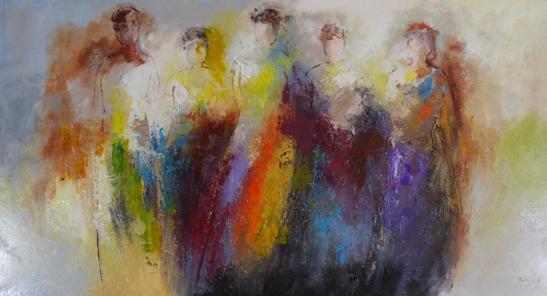 Schilderij figuratief 100x180