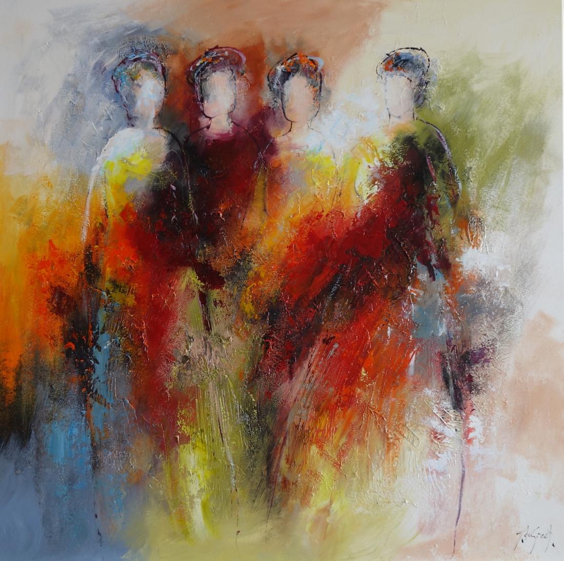 Schilderij figuratief 100x100