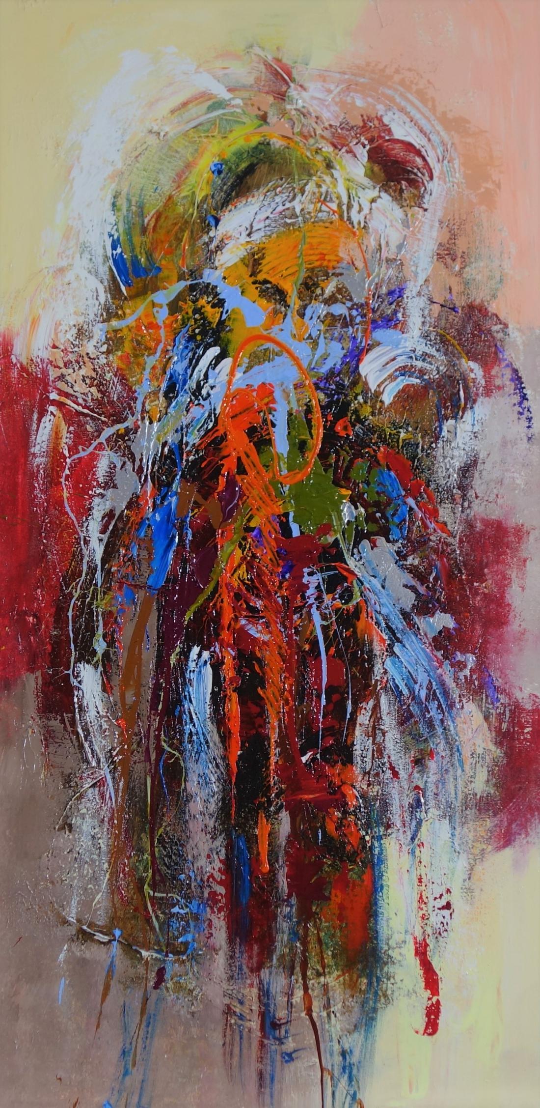 Schilderij abstract 100x50
