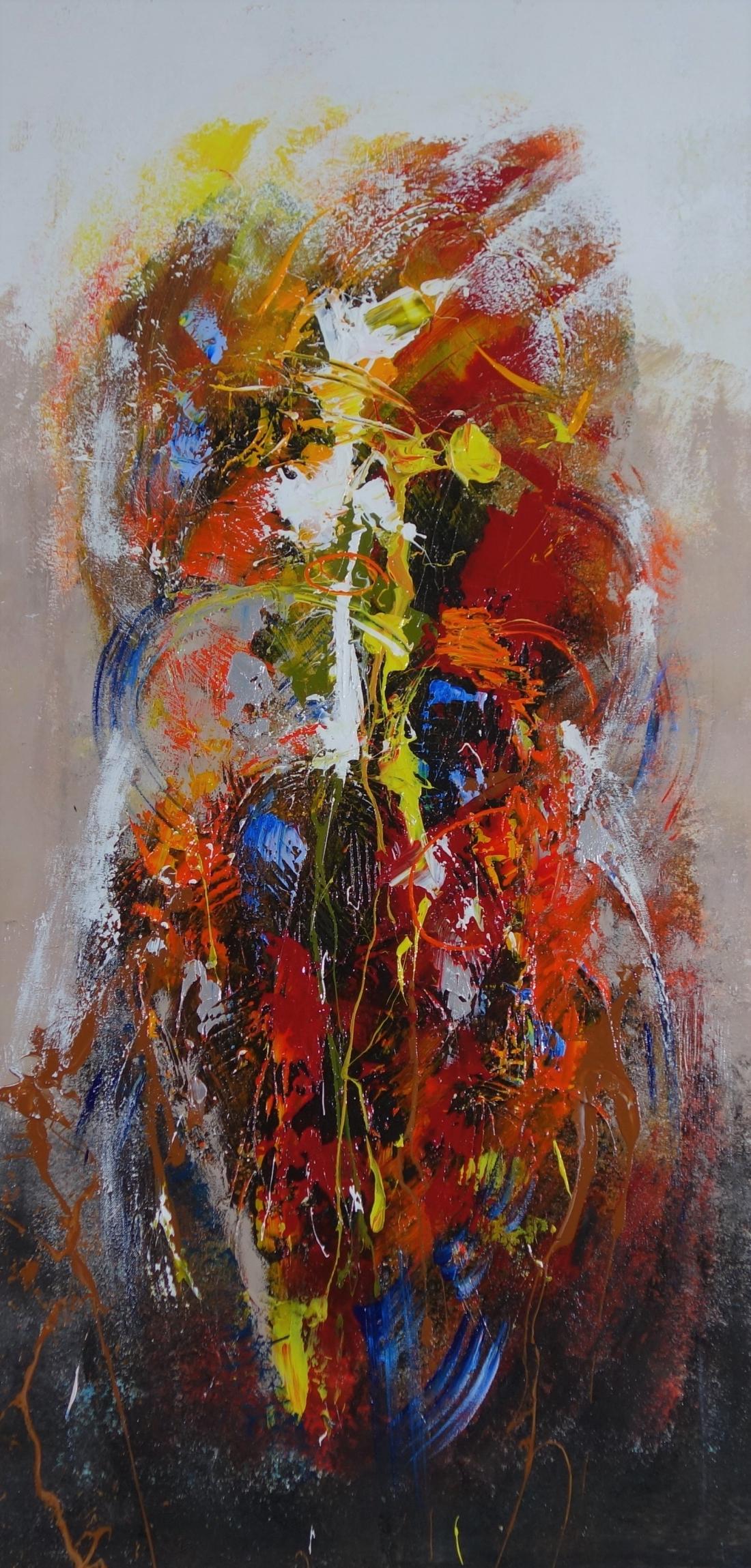 Schilderij abstract 120x60