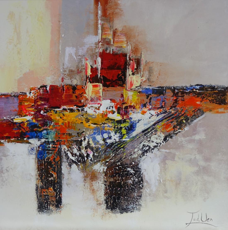 schilderij abstract 70x70