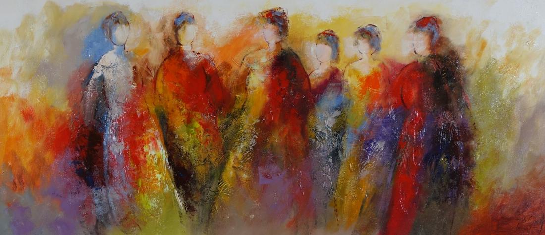 Schilderij figuratief 80x180