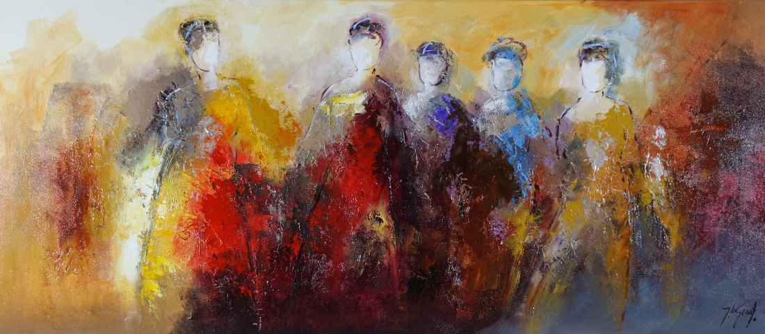 Schilderij figuratief 70x160